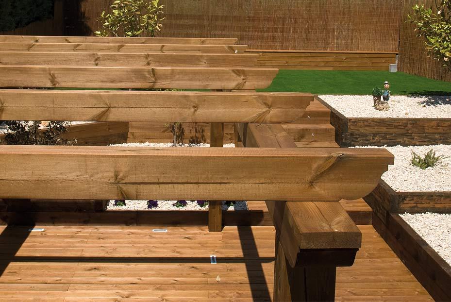 Porches a medida wooduart - Como hacer porche de madera ...